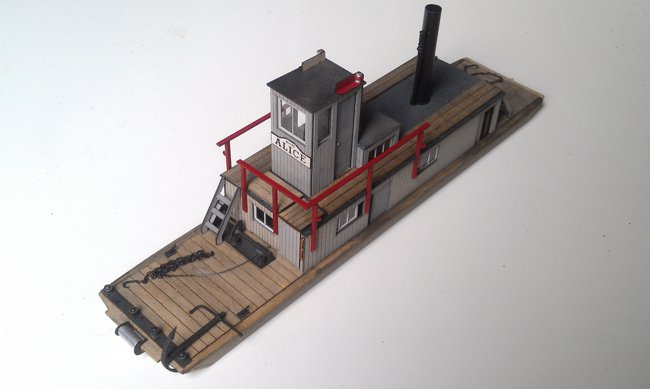 "O Scale (1:48) Baby Alligator Warping Tug ""Alice"""