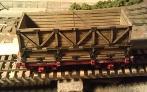 On30 Side Hopper Kit for Bachmann 18' Flatcar (Two Pack)